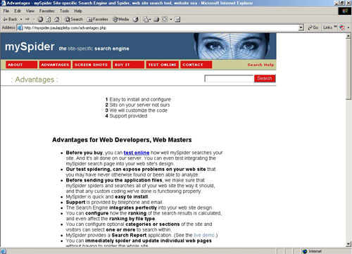 Myspider Admin Paul Appleby Web Developer Toronto Canada Website
